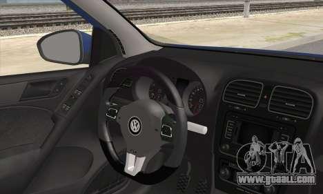Volkswagen Golf Mk6 2010 for GTA San Andreas back left view