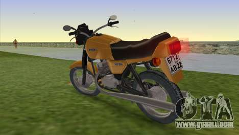 Jawa 638 for GTA Vice City left view