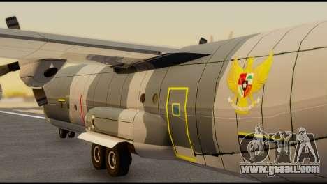 C-130 Hercules Indonesia Air Force for GTA San Andreas back left view