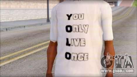 YOLO T-Shirt for GTA San Andreas third screenshot