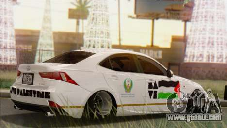 Lexus IS350 FSport 2014 Hellaflush for GTA San Andreas back left view