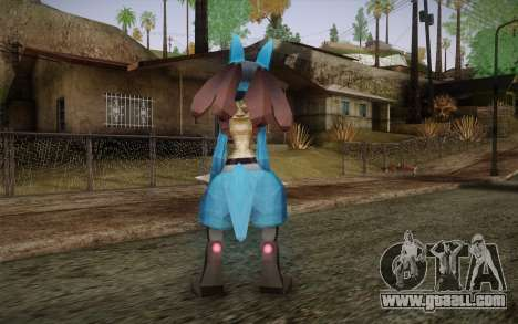 Lucario from Pokemon for GTA San Andreas second screenshot