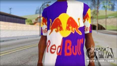 Red Bull T-Shirt for GTA San Andreas third screenshot