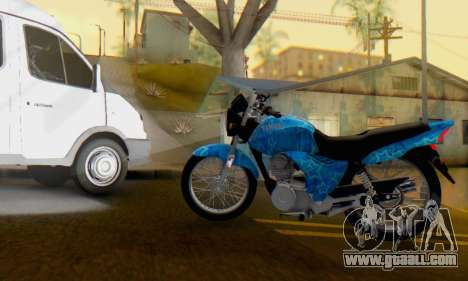 Yamaha YBR Blue Star for GTA San Andreas left view