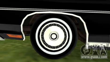 Chevrolet Caprice Classic 1973 for GTA Vice City right view