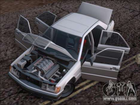 Mercedes Benz 190E Drift V8 for GTA San Andreas bottom view