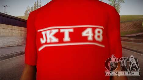 JKT48 Hardcore T-Shirt for GTA San Andreas third screenshot