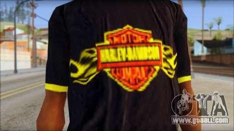 Harley Davidson T-Shirt for GTA San Andreas third screenshot