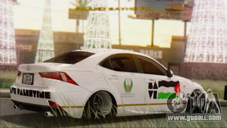 Lexus IS350 FSport 2014 Hellaflush for GTA San Andreas left view
