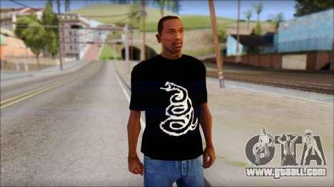Metallica Logos T-Shirt for GTA San Andreas