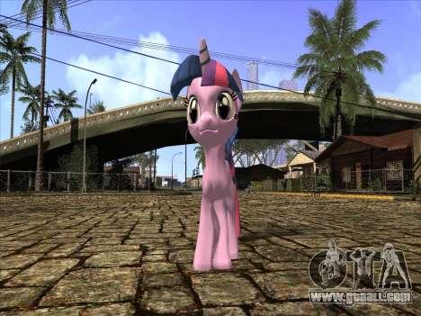 Twilight Sparkle for GTA San Andreas