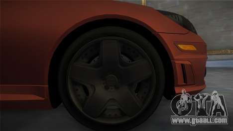 Mercedes-Benz SLK55 AMG Tuned for GTA Vice City back left view