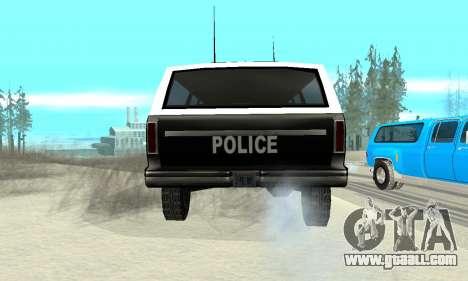 New Police Ranger for GTA San Andreas back left view
