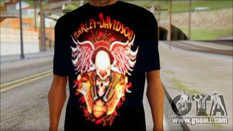 Harley Davidson Black T-Shirt for GTA San Andreas third screenshot