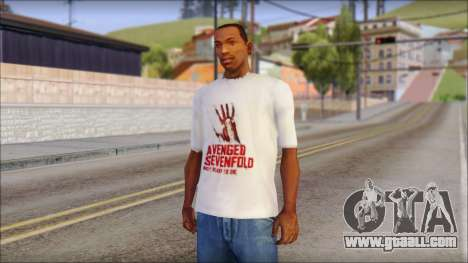 A7X Not Ready To Die Fan T-Shirt for GTA San Andreas