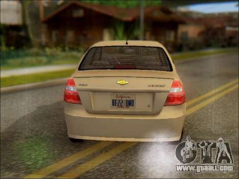 Chevrolet Aveo 2007 for GTA San Andreas back left view
