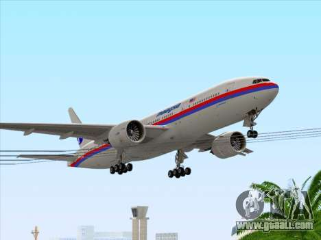 Boeing 777-2H6ER Malaysia Airlines for GTA San Andreas interior