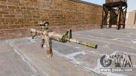 Automatic carbine MA Doll Camo for GTA 4