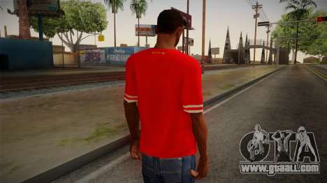 Liverpool FC 13-14 Kit T-Shirt for GTA San Andreas second screenshot