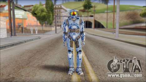 Masterchief Blue from Halo for GTA San Andreas second screenshot