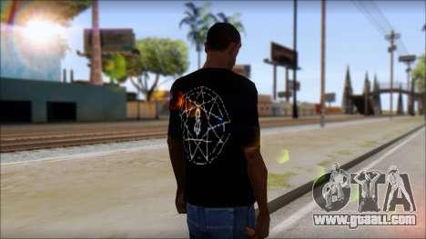 SlipKnoT T-Shirt v4 for GTA San Andreas second screenshot