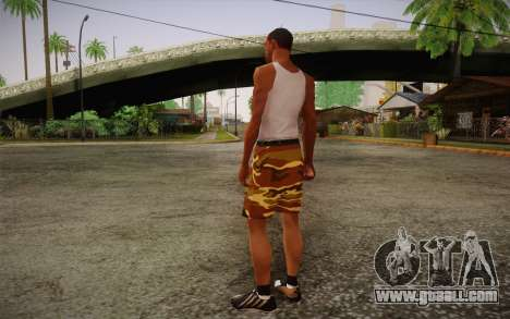 Camo Shorts Pants for GTA San Andreas second screenshot
