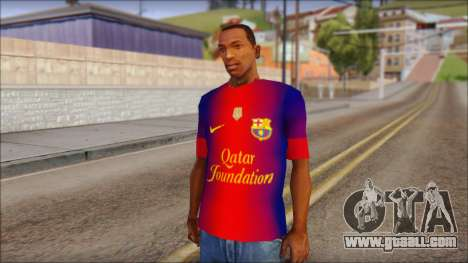 Barcelona Messi T-Shirt for GTA San Andreas