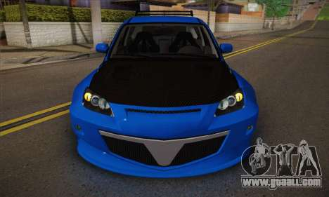Mazda Speed 3 Tuning for GTA San Andreas inner view