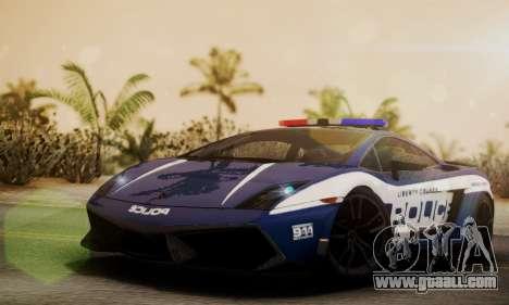 Lamborghini Gallardo LP570-4 2011 Police for GTA San Andreas