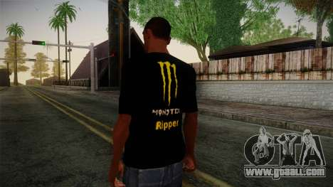 Monster Ripper Shirt Black for GTA San Andreas second screenshot