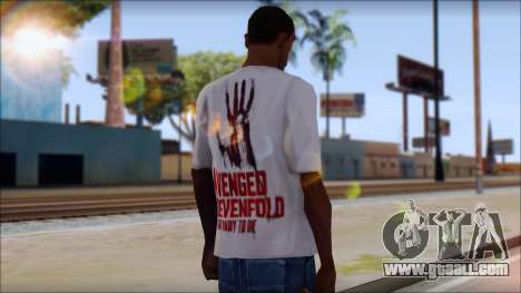 A7X Not Ready To Die Fan T-Shirt for GTA San Andreas second screenshot