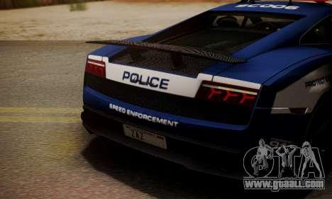 Lamborghini Gallardo LP570-4 2011 Police for GTA San Andreas side view