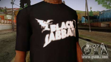 Black Sabbath T-Shirt for GTA San Andreas third screenshot