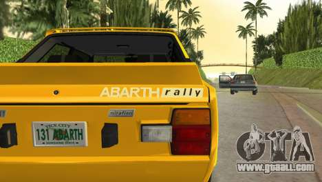 Fiat 131 Abarth Rally 1976 for GTA Vice City right view