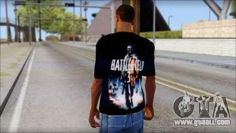 Battlefield 3 Fan Shirt for GTA San Andreas second screenshot