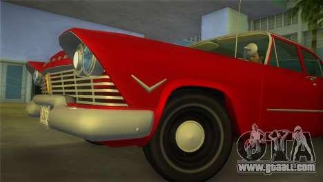 Plymouth Savoy Club Sedan 1957 for GTA Vice City right view