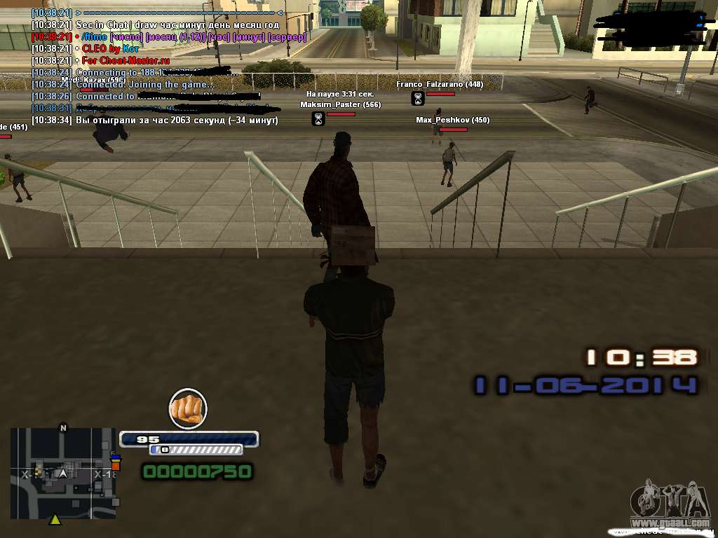 how to know time in gta san andreas