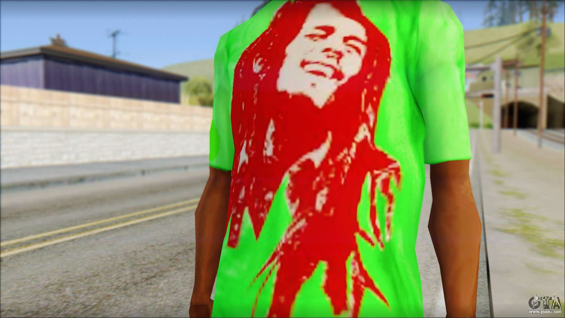 Bob Marley Jamaica T-Shirt for GTA San Andreas third screenshot