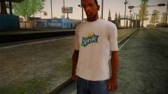 Sprite Shirt White for GTA San Andreas