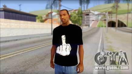 Black T-Shirt wBlack T-Shirt with middle finger for GTA San Andreas