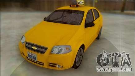 Chevrolet Aveo Taxi for GTA San Andreas