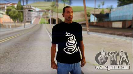 Metallica Logos T-Shirt for GTA San Andreas