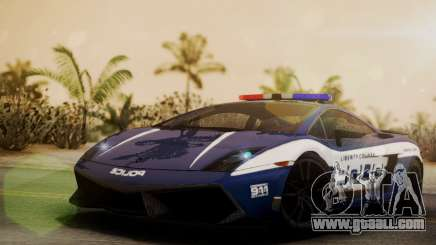 Lamborghini Gallardo LP570-4 2011 Police for GTA San Andreas