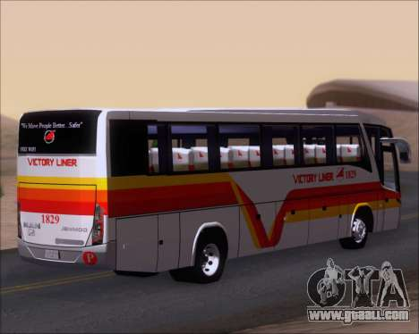 Marcopolo Paradiso G7 VictoryLiner 1829 for GTA San Andreas back left view