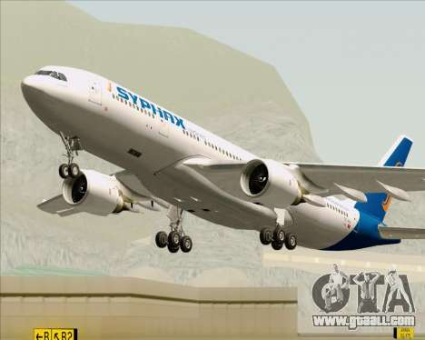 Airbus A330-200 Syphax Airlines for GTA San Andreas upper view