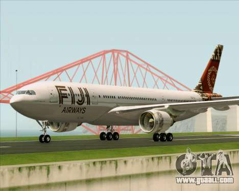 Airbus A330-200 Fiji Airways for GTA San Andreas left view