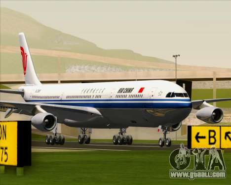 Airbus A340-313 Air China for GTA San Andreas back left view