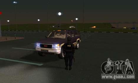 GMC Yukon XL ФСБ for GTA San Andreas inner view