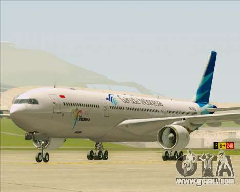 Airbus A330-300 Garuda Indonesia for GTA San Andreas left view