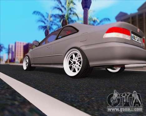 Honda Civic EM1 V2 for GTA San Andreas back left view
